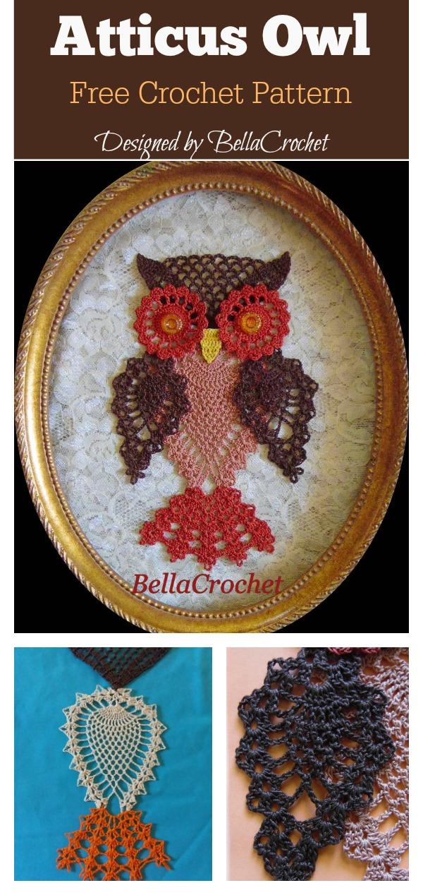 Pineapple Stitch Atticus Owl Free Crochet Pattern