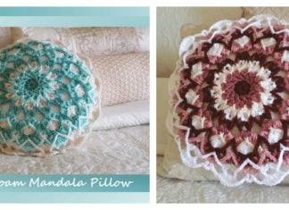 Sea-Foam Mandala Pillow Free Crochet Pattern