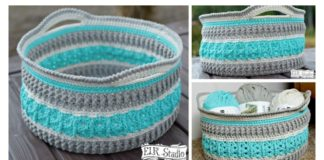 Sea Glass Basket Free Crochet Pattern