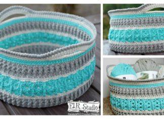 Sea Glass Basket Free Crochet Pattern