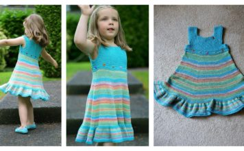 Shades of Summer Dress Free Knitting Pattern
