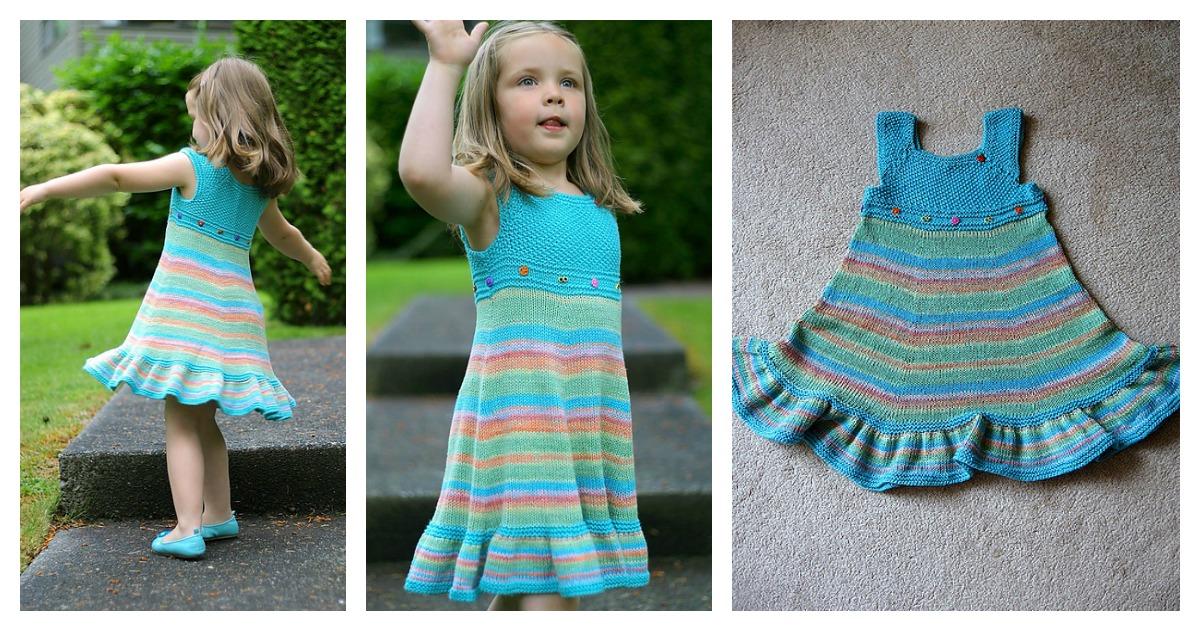 Knitting Summer Dress : Shades of summer dress free knitting pattern
