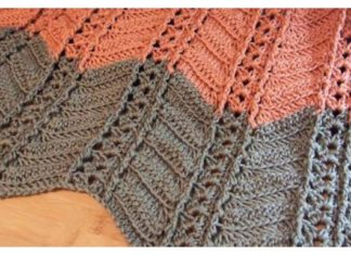 Shell and Post Stitch Ripple Afghan Free Crochet Pattern