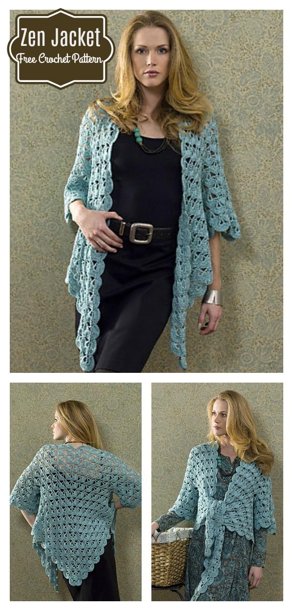 Zen Lace Jacket Free Crochet Pattern