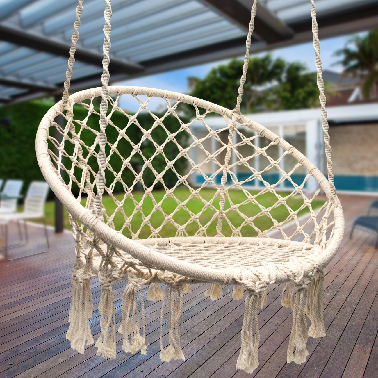 diy macrame hanging chair diy hanging macrame chair 8518