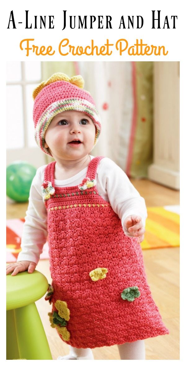 A Line Jumper And Hat Set Free Crochet Pattern Cool Creativities