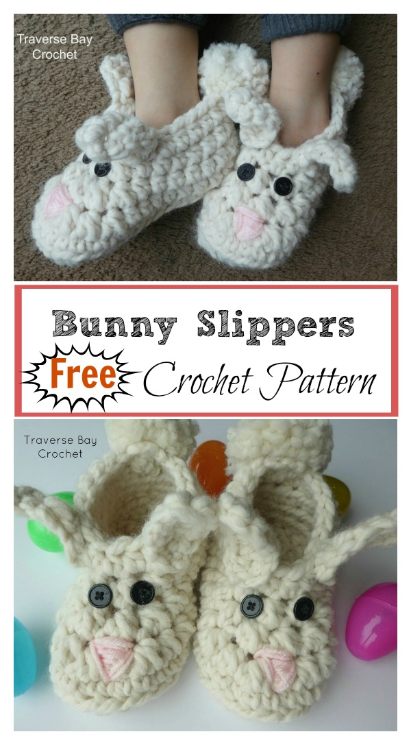 Cool Crochet Patterns & Ideas For Babies - Hative  |Baby Bunny House Slipper Crochet Pattern