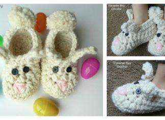 Bunny Slippers Free Crochet Pattern