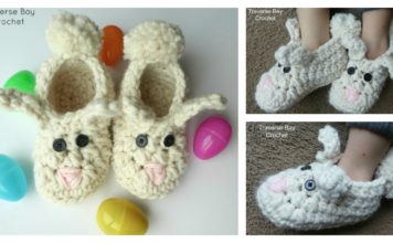 Bunny Slippers Free Crochet Pattern