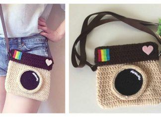 Camera Satchel Bag Free Crochet Pattern