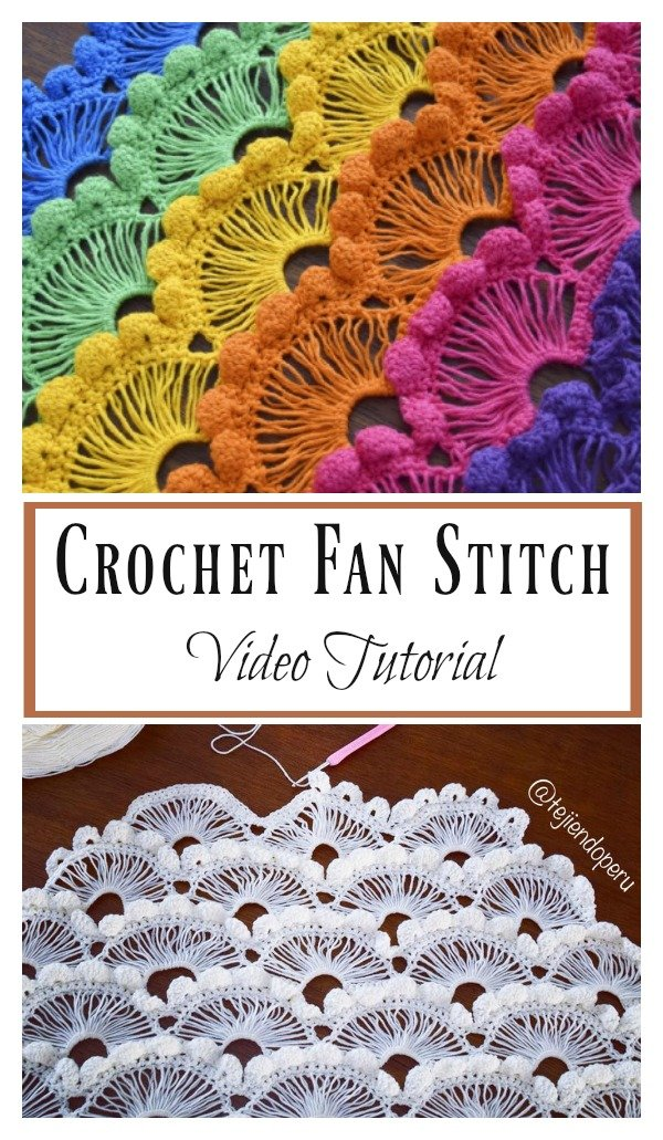 Crochet Fan Stitch Video Tutorial