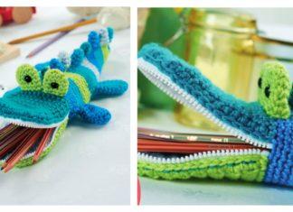 Crocodile Pencil Case Free Crochet Pattern