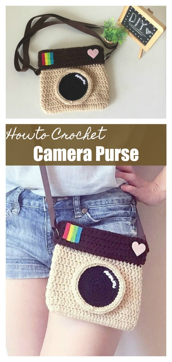 How To Crochet Camera Purse Cool Creativities