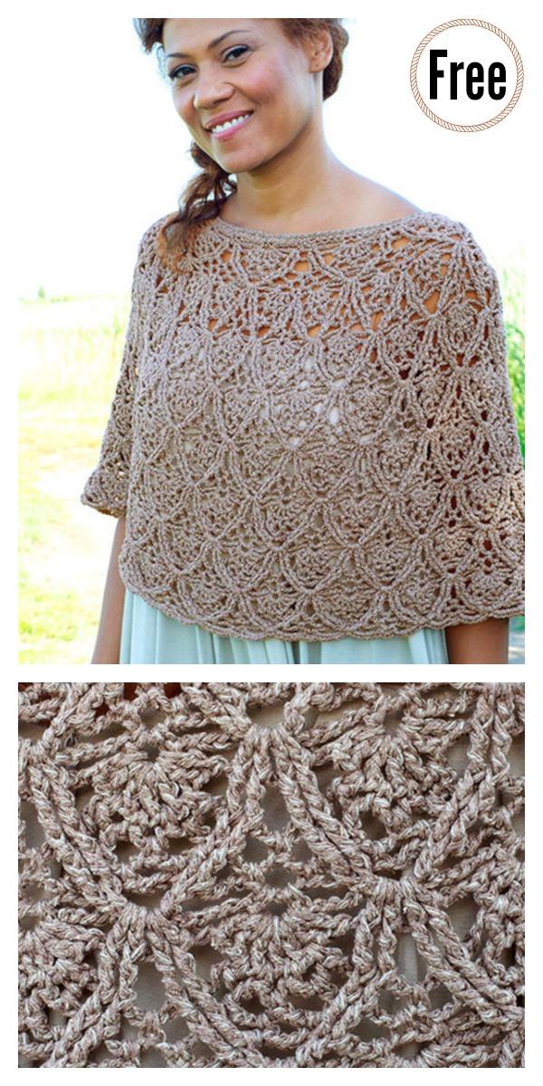 Lisbon Lace Poncho Free Crochet Pattern
