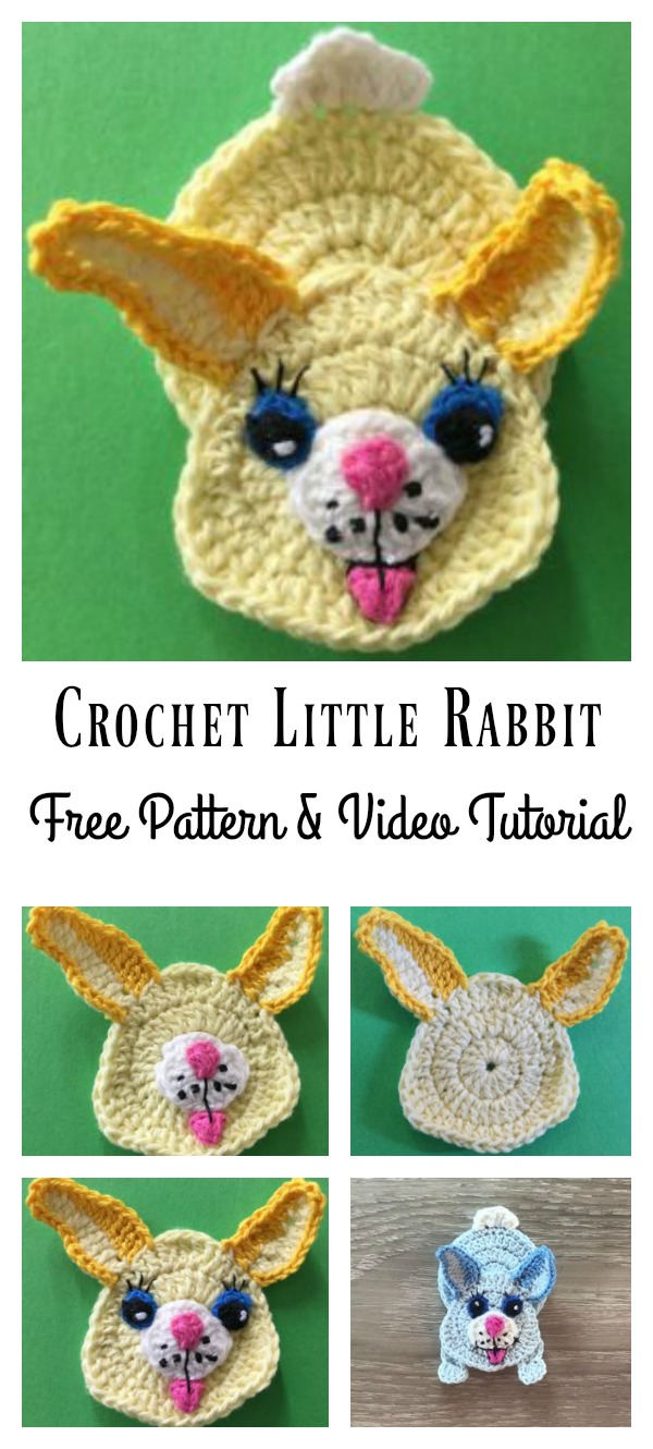 Rabbit Applique Free Crochet Pattern and Video Tutorial