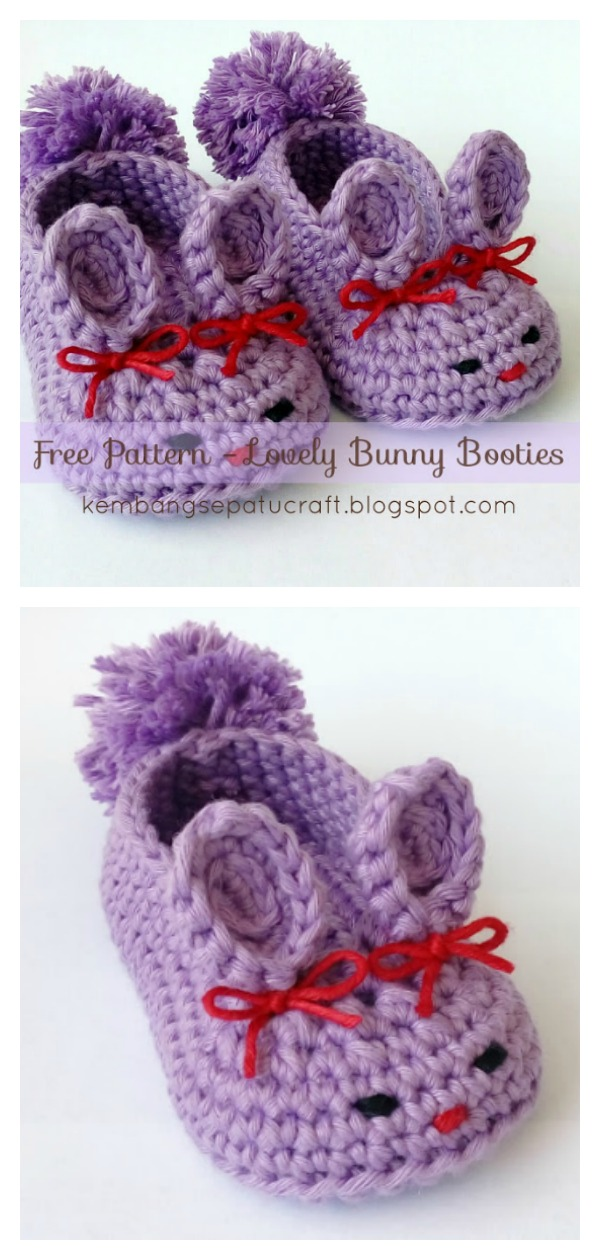 Lovely Bunny Slipper Free Crochet Pattern