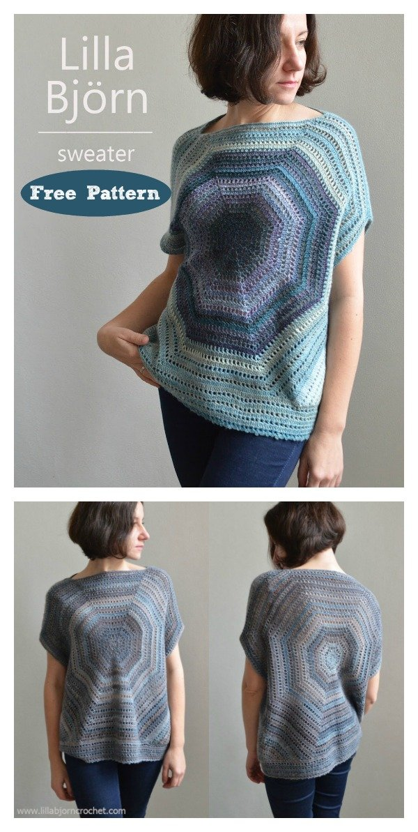 Octagon Pullover Sweater Free Crochet Pattern