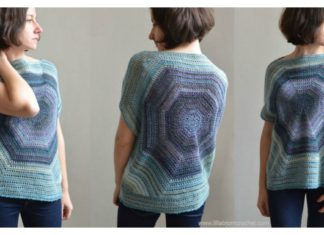 Octagon Pullover Sweater Free Crochet Pattern