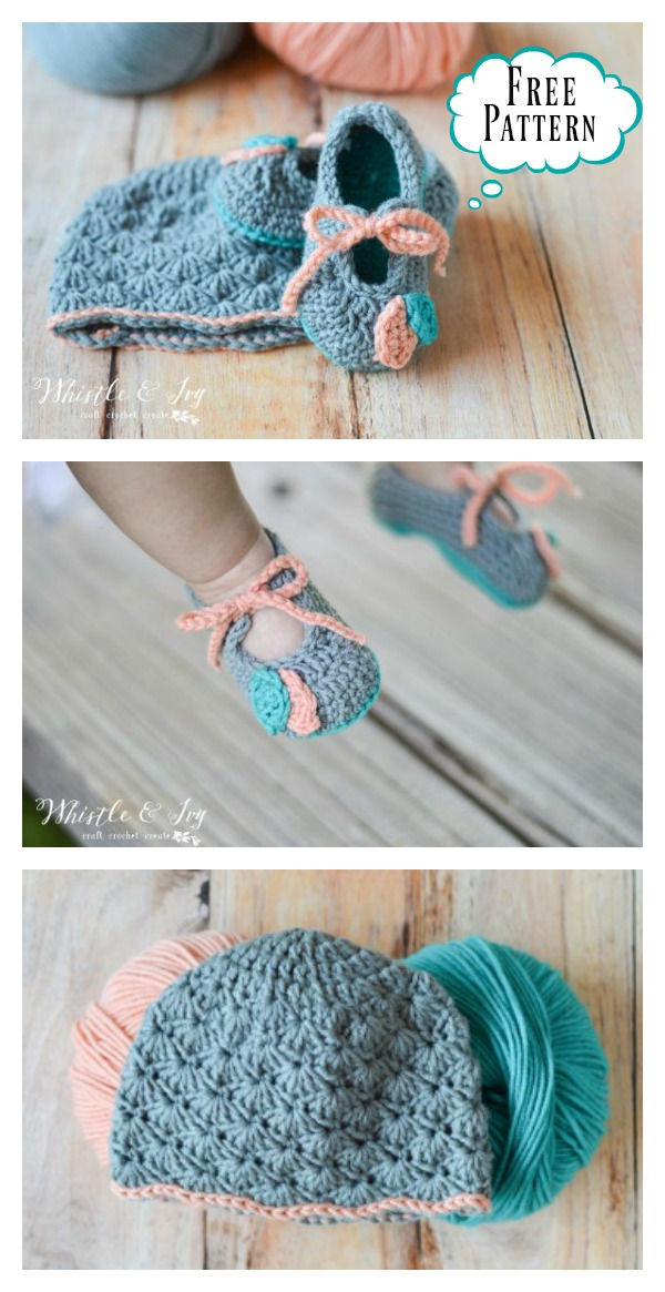 Petal Princess Baby Booties And Hat Set Free Crochet Pattern Cool