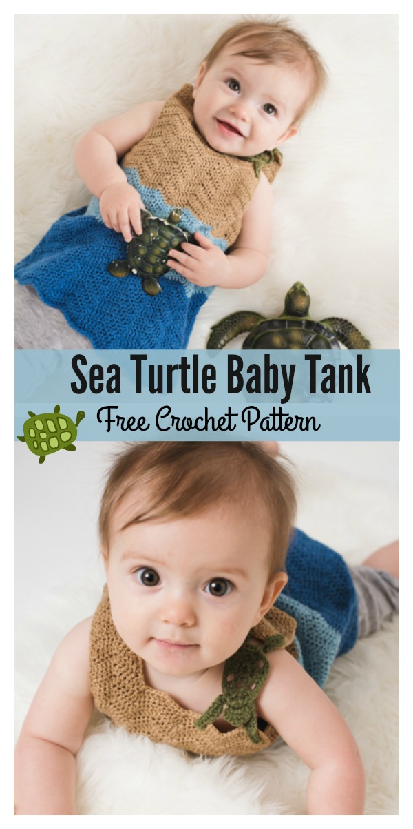 Sea Turtle Baby Tank Free Crochet Pattern