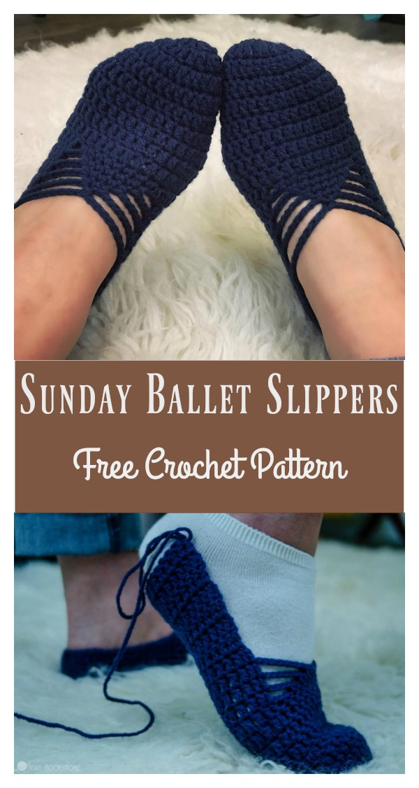 Sunday Ballet Slippers Free Crochet Pattern And Video Tutorial