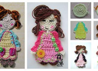 Sweet Girl Applique Free Crochet Pattern