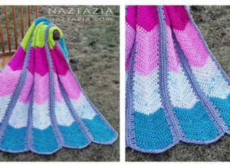 Waterfall Ripple Blanket Free Crochet Pattern and Video Tutorial