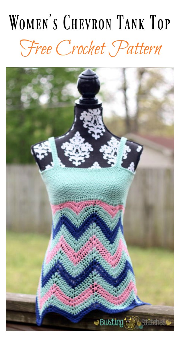 Women's Chevron Tank Top Free Crochet Pattern