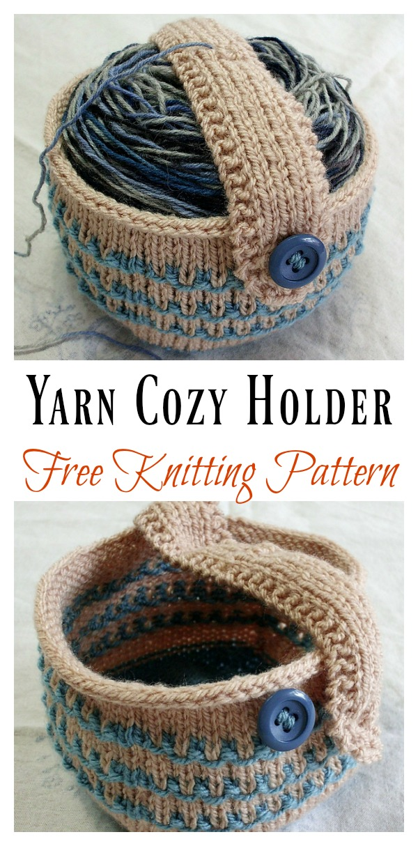 Yarn Cozy Holder Free Knitting Pattern