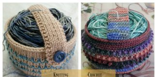 Yarn Cozy Holder Free Knitting and Crochet Pattern
