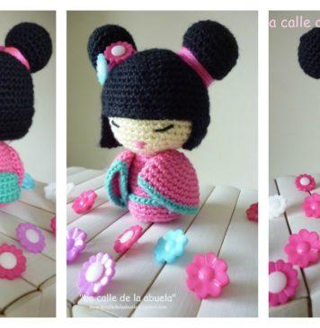 Amigurumi Kokeshi Doll Free Crochet Pattern
