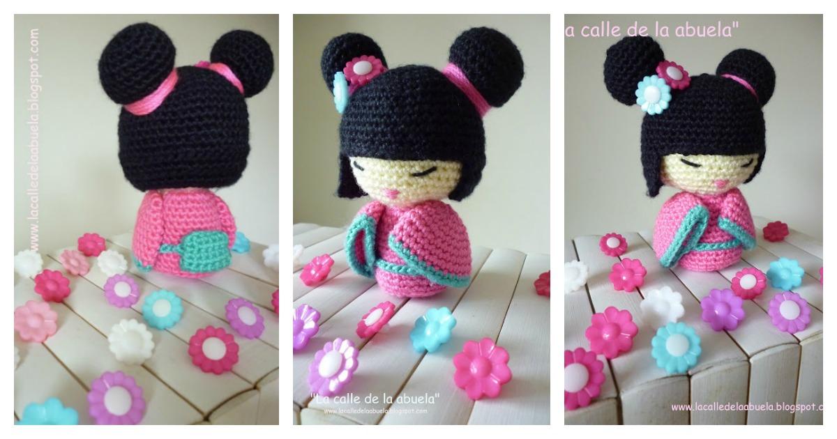 Amigurumi Doll Free Crochet Pattern : Amigurumi kokeshi doll free crochet pattern