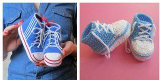Baby Converse Booties Free Crochet Pattern