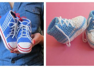 Baby Converse Booties Free Crochet Pattern