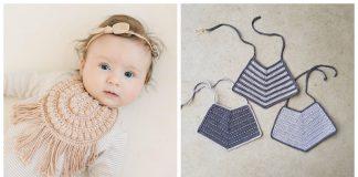 Cute Baby Bib Free Crochet Pattern