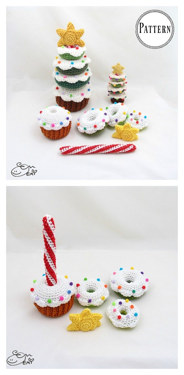Donut Christmas Tree Stacking Toy Crochet Pattern