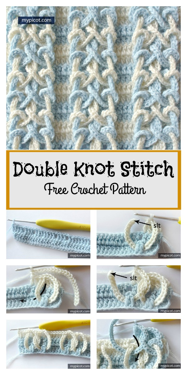 Double Knot Stitch Free Crochet Pattern