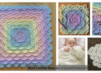 Fluffy Meringue Stitch Baby Blanket Free Crochet Pattern and Video Tutorial