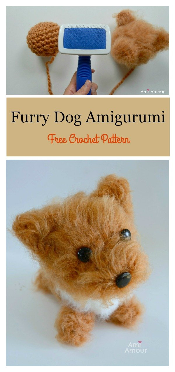 Furry Dog Amigurumi Free Crochet Pattern