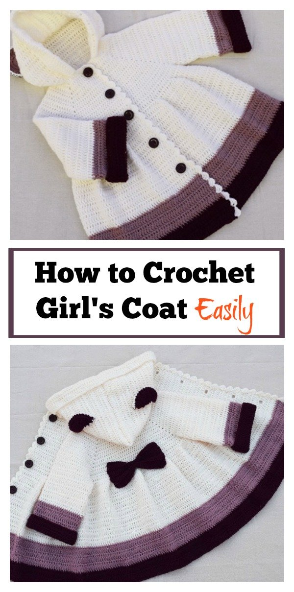 How to Crochet Girls Coat Easily