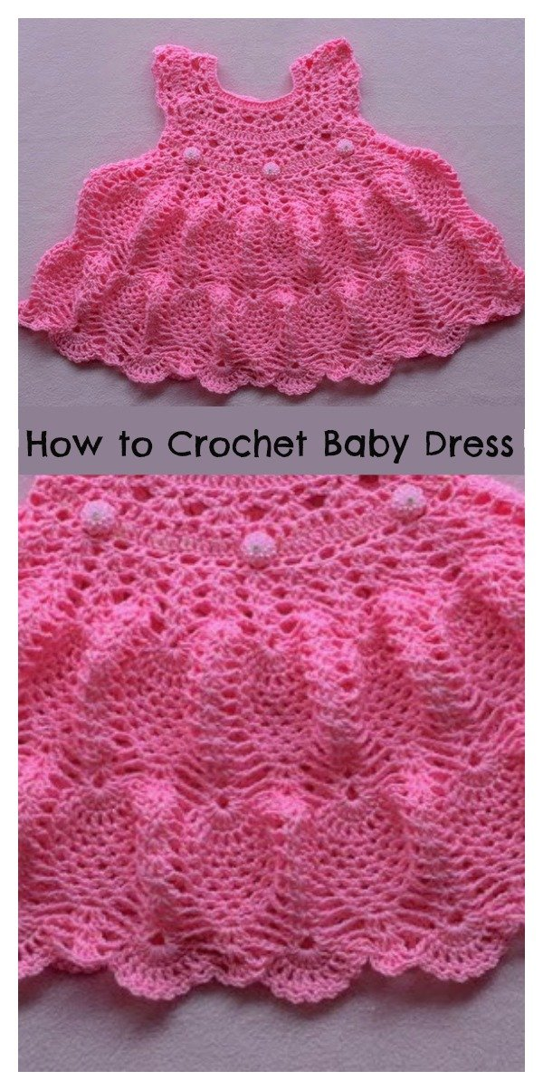How To Crochet Pineapple Stitch Baby Dress Cool Creativities