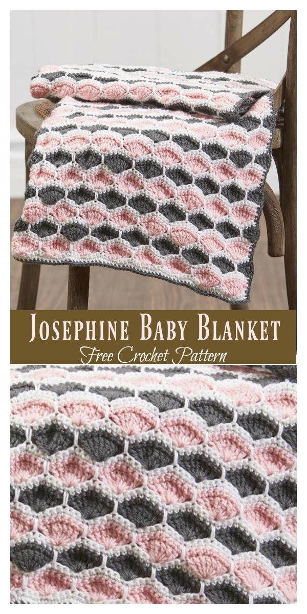 Josephine Shell Stitch Baby Blanket Free Crochet Pattern Cool