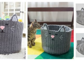 Kitty Toy Basket Free Crochet Pattern