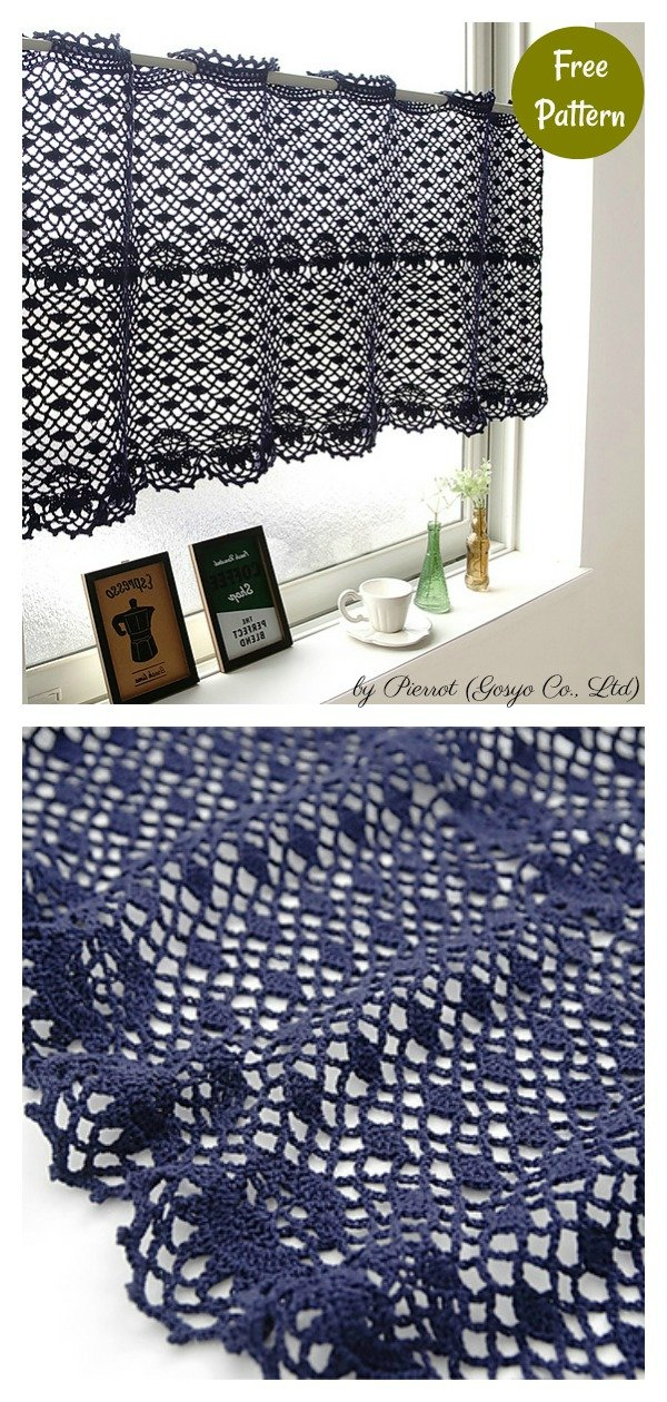 Lace Tier Curtain Free Crochet Pattern