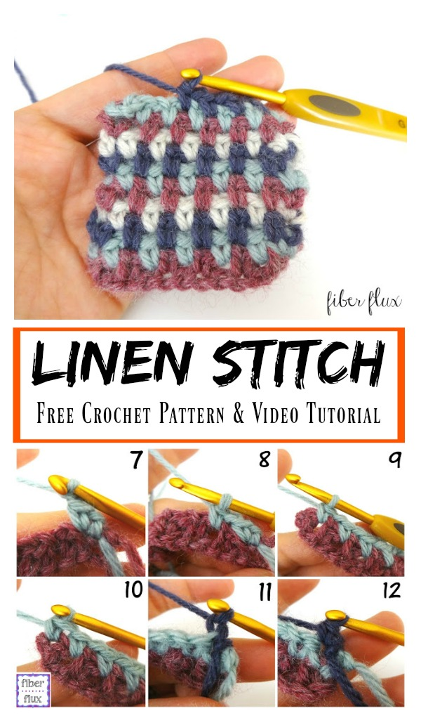 Linen Stitch Free Crochet Pattern & Video Tutorial