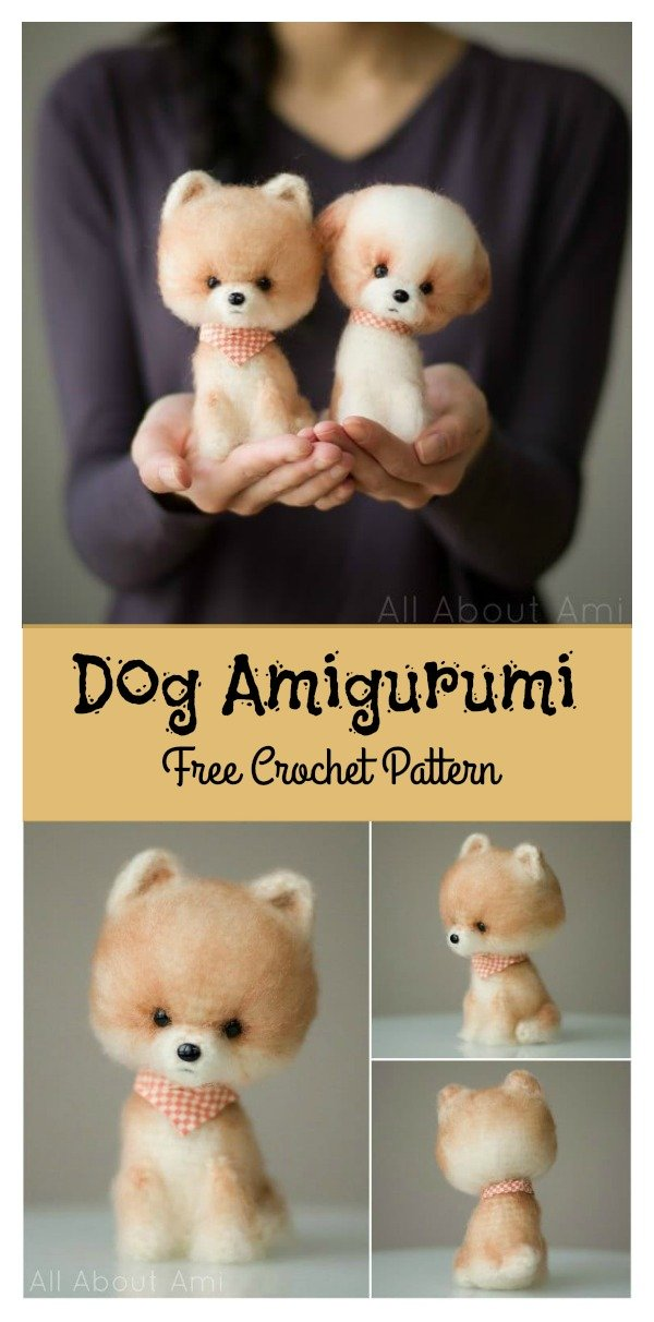Little Fluffy Dog Amigurumi Free Crochet Pattern