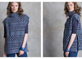 McKenna Openwork Pullover Free Crochet Pattern