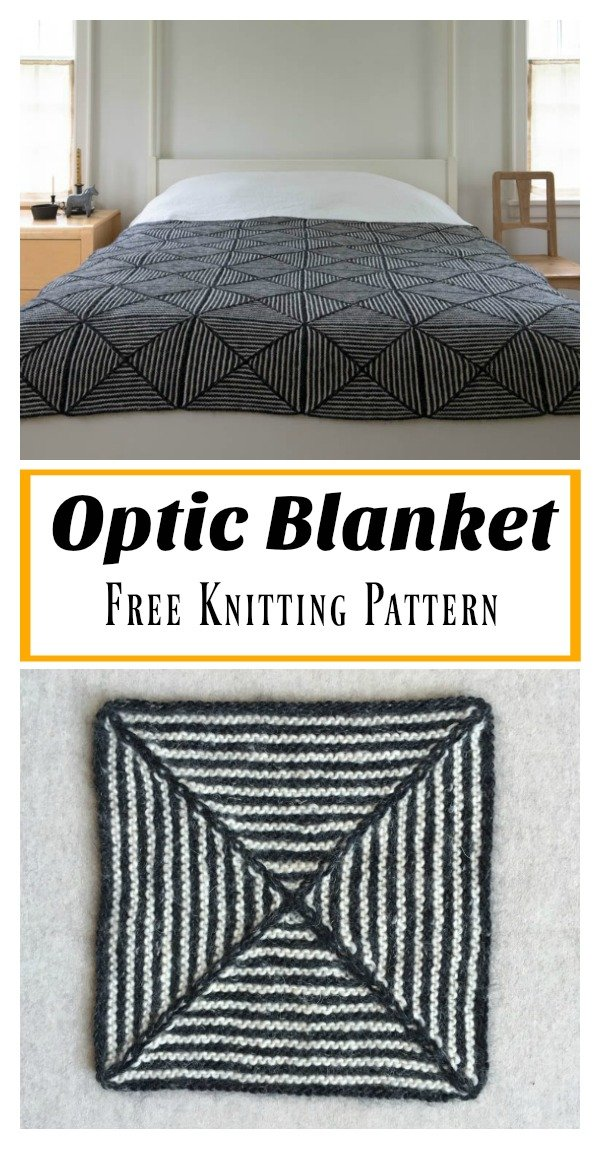 Optic Blanket Free Knitting Pattern