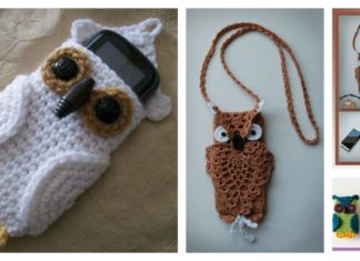 Owl Cell Phone Cozy Free Crochet Pattern