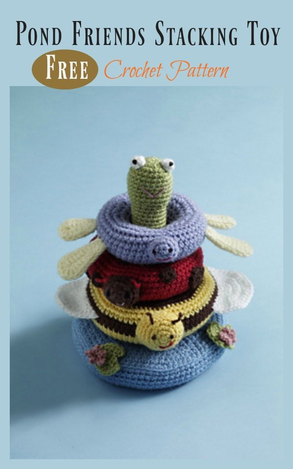 Pond Friends Stacking Toy Free Crochet Pattern